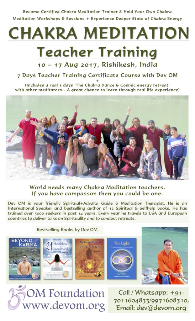 Chakra Therapy + Teacher Training (Certificate) – Dev OM
